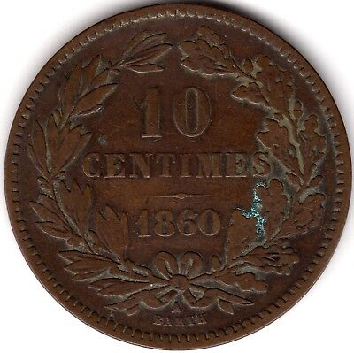 1860A Luxembourg 10 Centimes***Collectors***