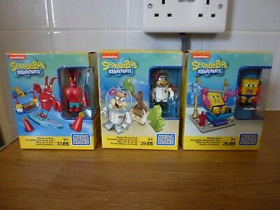 Spongebob Squarepants Mega Bloks Figure Sets Brand New