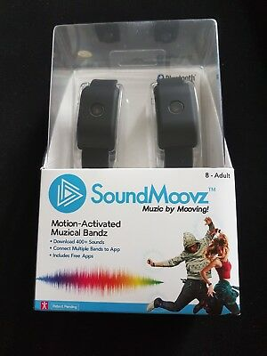 SoundMoovz Motion-Activated Musical Band And App Black