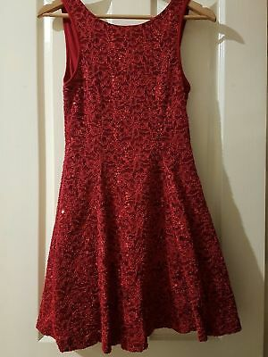STUNNING red vintage party dress size 12