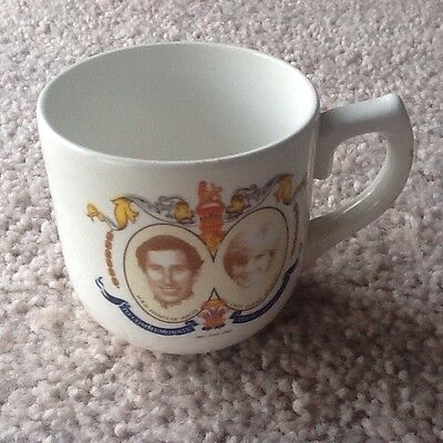 Princes Charles & Lady Diana Marriage Cup 1975 - Collectable