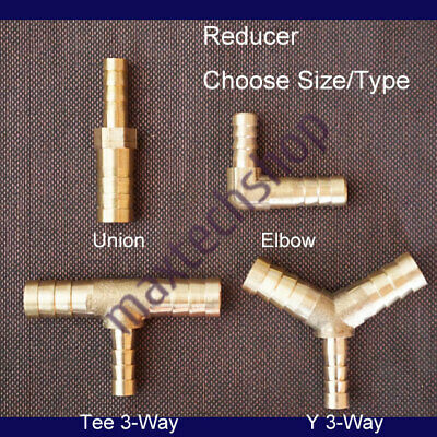 Brass Fitting Hose Barb Pipe Tubing Connector Reducer Adapter Fuel Water Boat