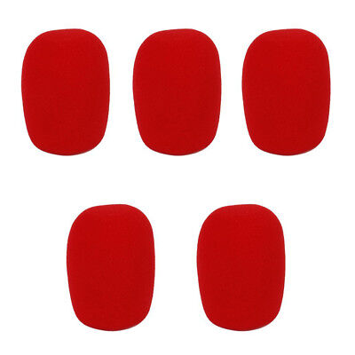 5Pcs Studio Microphone Foam Microphone Protective Cover For KTV / Home Red SS