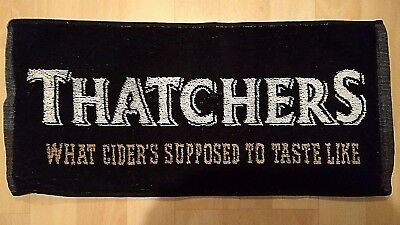 NEW Thatchers Beer Cider Towel - Bar Man Cave West Country Bristol Rovers Yeovil