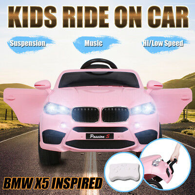 Electric Kids Ride On Car BMW X5 Inspired Children Toys Battery Remote 12V Pink