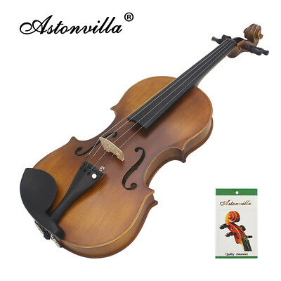 4/4 Size Vintage Acoustic Handmade Violin Fiddle Musical instrument with Case