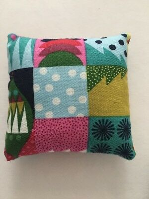 Handmade square mini pillow cat toy with catnip gift pet Cotton Christmas