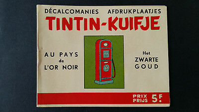 Tintin Kuifje Tim Décalcomanies bilingue +1963 Or Noir complet superbe