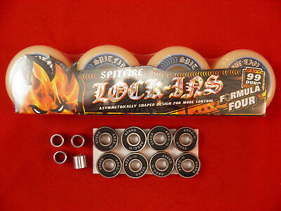 SPITFIRE FORMULA FOUR LOCK-INS 53mm /99D -SKATEBOARD WHEELS+ ABEC 11'S