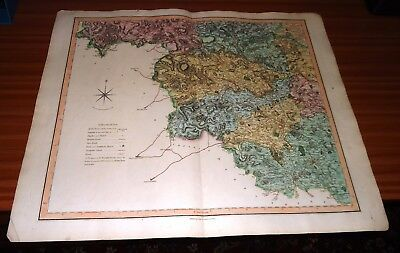 Copper Engraved Map ~ SOUTH WEST RIDING OF YORKSHIRE by CHARLES SMITH ~ 1801