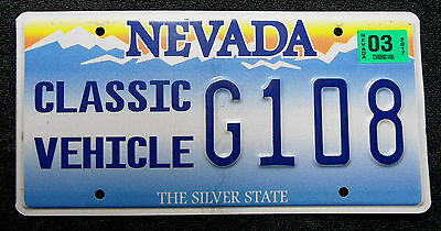 "Nummernschild USA aus Nevada ""CLASSIC VEHICLE"" vom Oldtimer. 13389."
