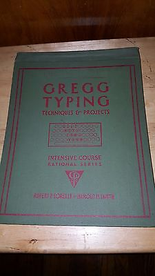 Antique 1932 Glass Key Typewriter Hardcover Book Typing Instruction Guide Bookj