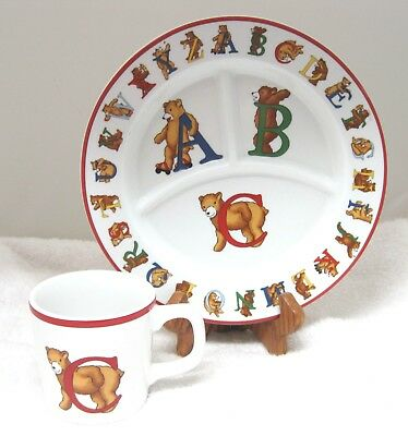 1994 Tiffany & Co Alphabet Bears Cup & Plate In Excellent Shape
