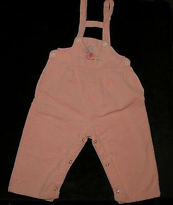 Vintage Healthtex Stantogs Pink Corduroy Overalls Embroidered Elephant Evc 30 M