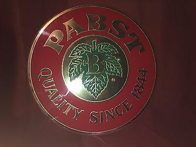 "PABST Beer Quality Since 1844 Advertiser Wall Medallion Mirror Sign 16"" Diameter"