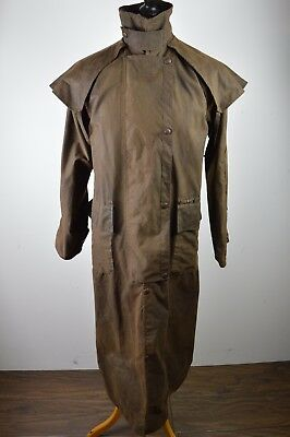 Superb men's Driza Bone waxed equestrian stockman riding coat XS Small
