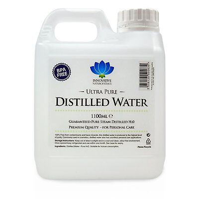 Distilled Water - 100% Pure Food Grade - 1 Litre + Pack Size Options