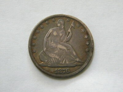 1876 P  Seated Half Dollar Nicely Toned