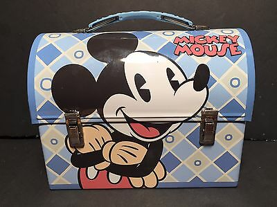 "Disney Classic Mickey Mouse Crossed Arms  Tin Lunch Box NEW 6"" x 7.5"""