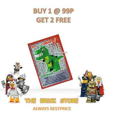 Lego - #111 - Dinosaur - Create The World Trading Card - Bestprice + Gift - New