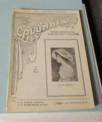 1912 The Seven Sisters Columbia Theatre Program Washington DC Early Helen Hayes