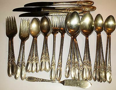 Lot of 42 Vintage Oneida Community White Orchid Silver-plate Flatware Silverware