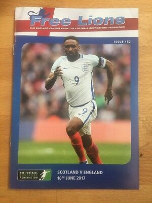 FREE LIONS SCOTLAND v ENGLAND FOOTBALL PROGRAMME 10th JUNE 2017 ISSUE 152