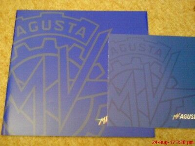 MV AGUSTA F4 750 Glossy blue 01/02 ( large ) brochure c/w price list excl cond.