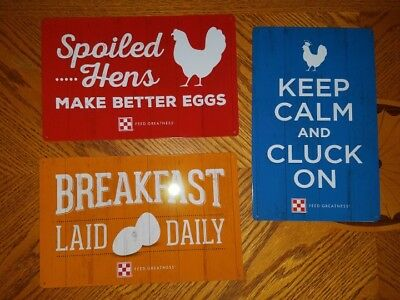 NEW! Purina Metal Tin Signs LOT Of  3  total