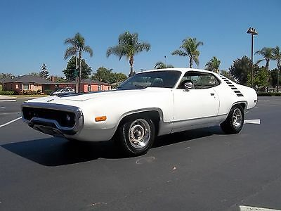 1972 Plymouth Road Runner sport sebring satellite 1972 plymouth road runner tribute.  big block B body project