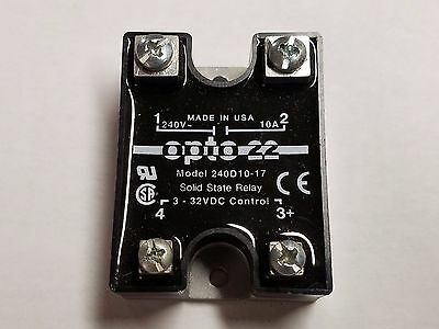 OPTO 22 Model 240D10 Solid State Relay -Tested GOOD- 240D10-17    10 Amp   220V