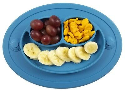 Baby Toddler Silicone Plate Placemat with Extra Suction with FREE Spoons