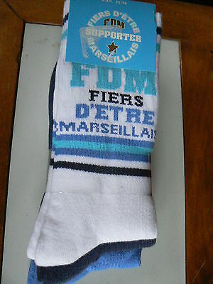CHAUSSETTES OLYMPIQUE MARSEILLE OM Taille 27/30