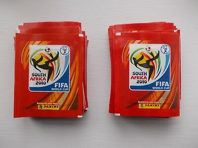 football stickers panini world cup 2010 x 50 unopened packets