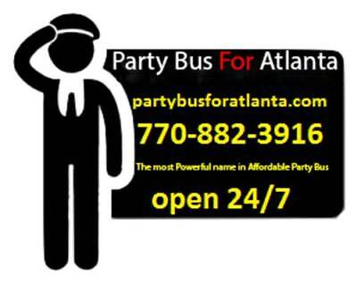 Up to 25 Passengers - Party Bus For Atlanta - Reservation Deposit