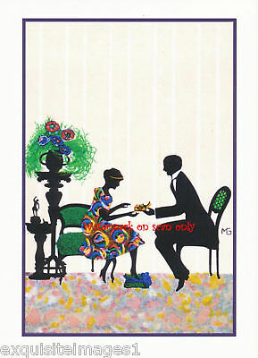 Marte Graf~ Art Deco~Romance~ Silhouette NEW Note Cards