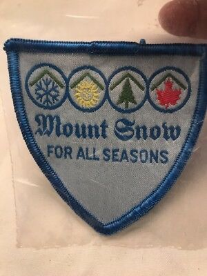 "MOUNT SNOW Skiing Ski Patch Resort Souvenir Vintage ""For All Seasons"" New Sealed"