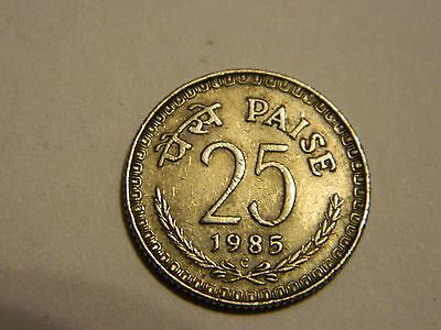 1985 India 25 Paise ---Lot #797