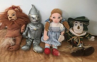 Set Of Warner Brothers Wizard Of Oz Beanie Babies Plush DOLLS 1998