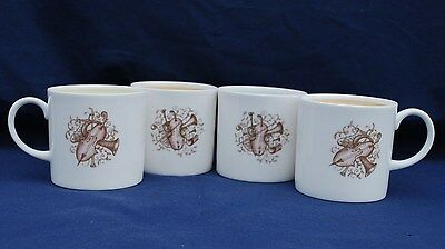 """FOUR (4) """"SUSIE COOPER"""" Music theme design  COFFEE CUPS. Excellent Condition"""