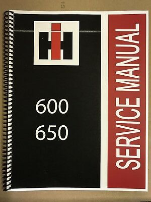 600 International Harvester Tractor Technical Service Shop Repair Manual Farmall