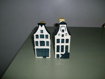 KLM Bols Delft Houses -  Numbers 9 & 11 - Sealed With Contents.