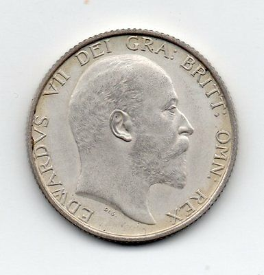 1902 Shilling, Proof, Edward Vii