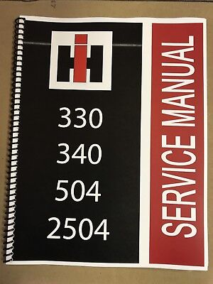 504 International Harvester Tractor Technical Service Shop Repair Manual Farmall