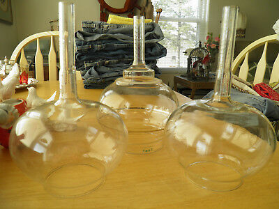Set Of 3 Apothecary Vintage Glass Vessels - Clear