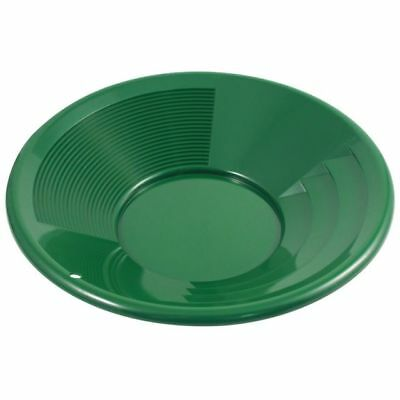 "12"" Green Plastic Gold Pan Mining Nugget Dredging Prospecting River Panning New"