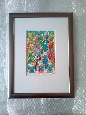 James Rizzi * The Adventure of Reading * ORIGINAL * handsignierte Lithographie