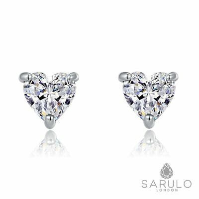Heart Stud Earrings Sarulo 925 Solid Sterling Silver New Fashion Jewelry Gift
