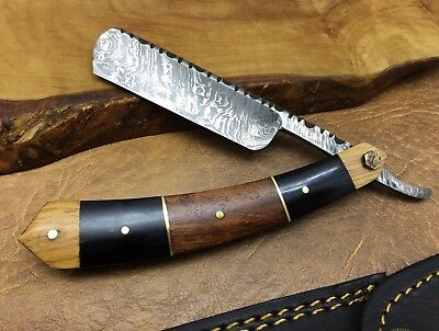 TITANs Handmade Damascus Steel Straight Razor Cut Throat Superb Quality 139ST