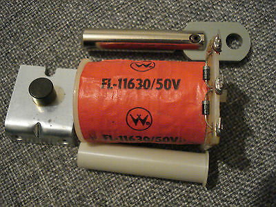 Williams Flipper Coil FL-11630/50V, Sleeve, Stop Bracket, Link & Plunger NOS